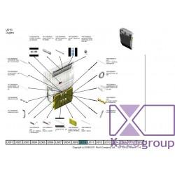 ricoh guide plate left upper mp c3002 c3502 rmx regenerated regenerowany d0094503