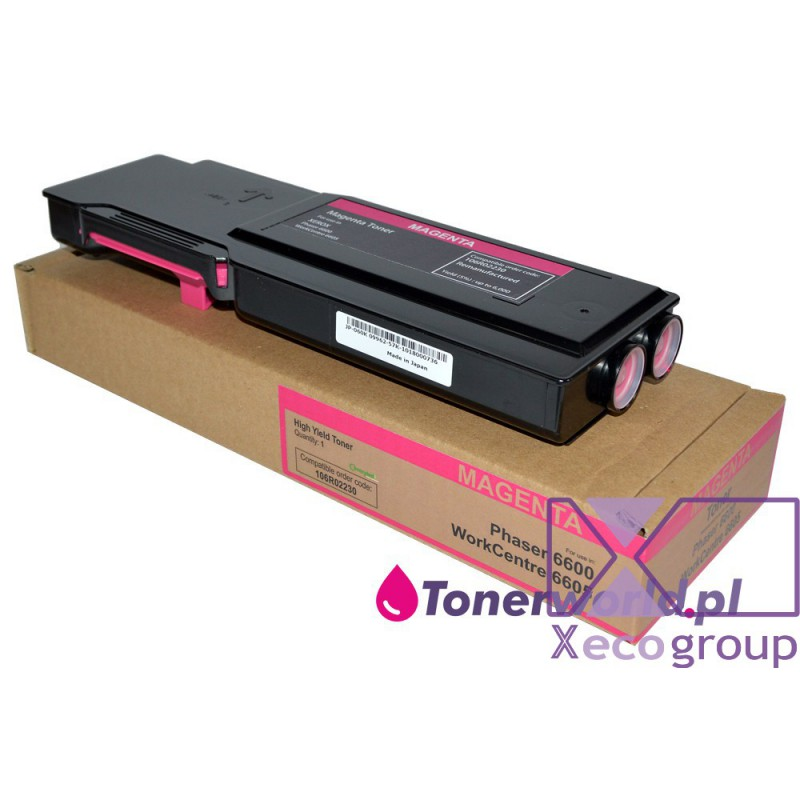 Xerox toner rmx regenerated wc workcentre 6605 ph phaser 6600 106r02230 magenta
