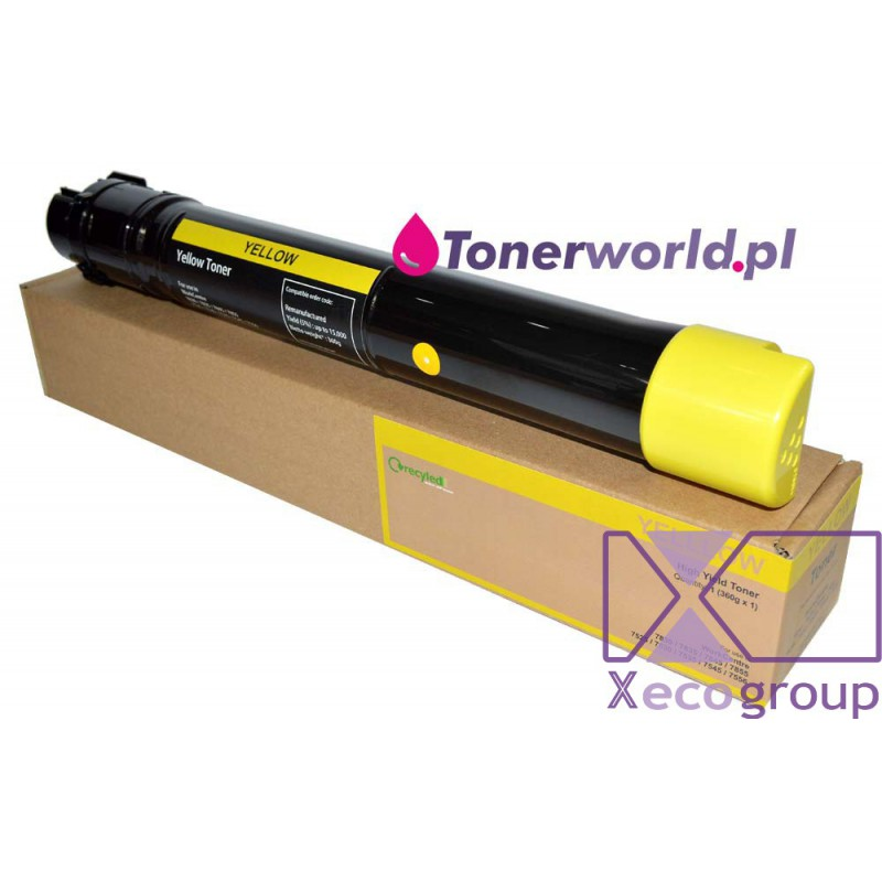 Xerox toner rmx regenerated wc workcentre 7525 7530 7535 7545 7556 7830 7835 7845 7855 7970 006r01518 yellow